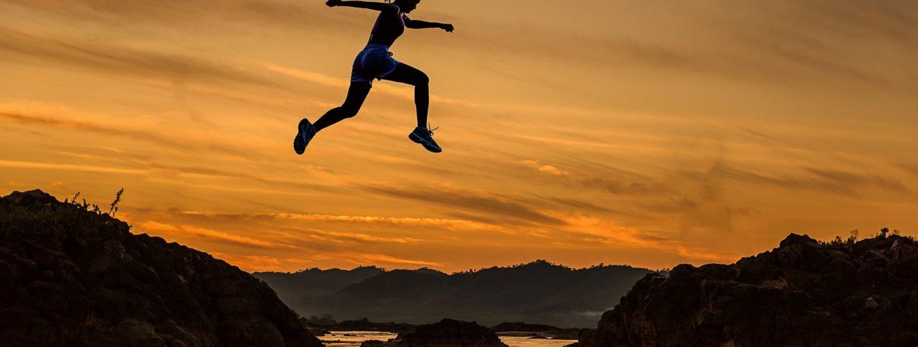 sauter dans les airs